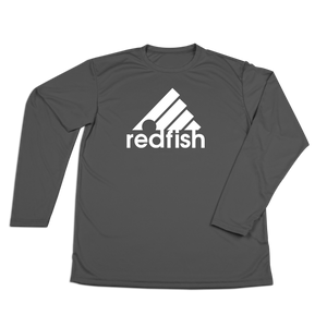 #REDFISH Performance Long Sleeve Shirt - White - Hat Mount for GoPro