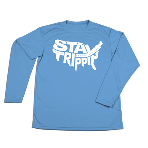 #STAYTRIPPIN USA Performance Long Sleeve Shirt - White
