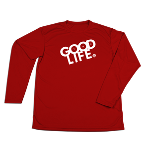 #THEGOODLIFE Performance Long Sleeve Shirt - White - Hat Mount for GoPro