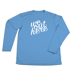#WEOUTHERE Performance Long Sleeve Shirt - White - Hat Mount for GoPro