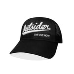 #OUTSIDER Mesh Hat - All Black Curved Bill - Hat Mount for GoPro