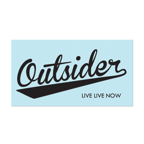 "Decals: 6"" Vinyl #OUTSIDER - Black - Hat Mount for GoPro"