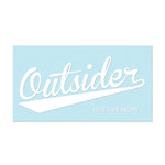 "#OUTSIDER - 11"" White Decal - Hat Mount for GoPro"