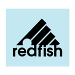 "#REDFISH - 6"" Black Decal - Hat Mount for GoPro"