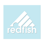 "#REDFISH - 6"" White Decal - Hat Mount for GoPro"