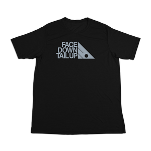 #FACEDOWNTAILUP Soft Short Sleeve Shirt - Gray Print