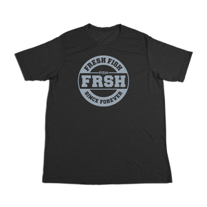#FRESHFISH Soft Short Sleeve Shirt - Gray Print