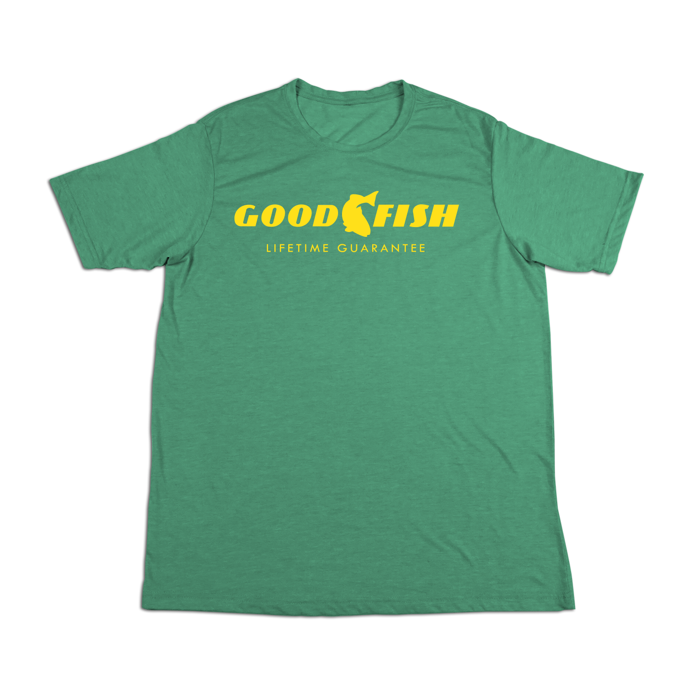 #GOODFISH Soft Short Sleeve Shirt - Yellow - Hat Mount for GoPro