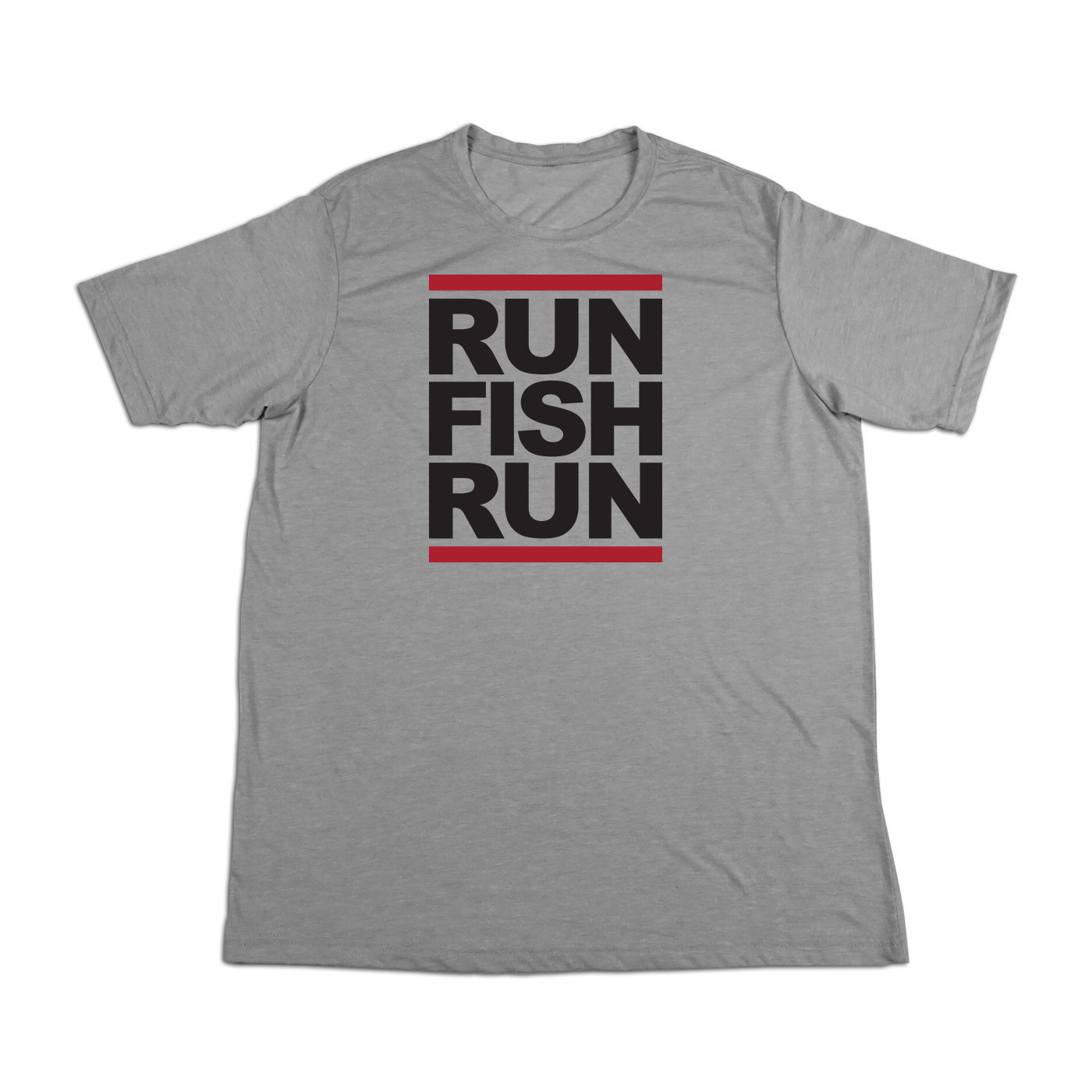 #RUNFISHRUN Soft Short Sleeve Shirt - Black - Hat Mount for GoPro