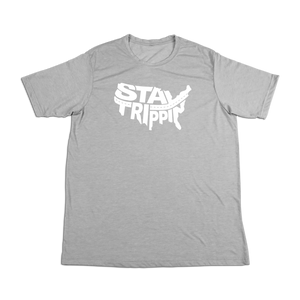 #STAYTRIPPIN USA Soft Short Sleeve Shirt - White - Hat Mount for GoPro