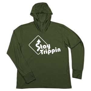 #STAYTRIPPIN Sign TriBlend Hoodie Shirt - Hat Mount for GoPro