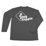 #STAYTRIPPIN Sign Performance Long Sleeve Shirt - White - Hat Mount for GoPro
