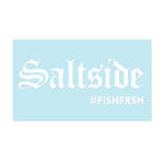 "#SALTSIDE - 6"" White Decal - Hat Mount for GoPro"