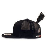 ActionHat Mesh: Black Flat Bill - Hat Mount for GoPro