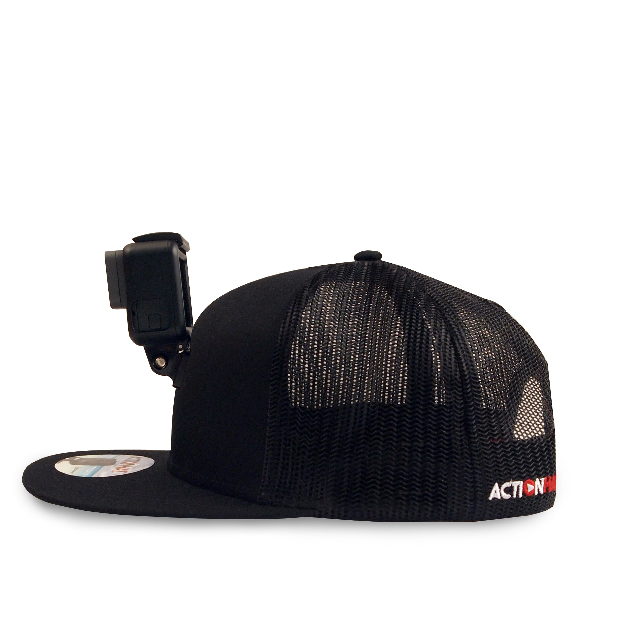 ActionHat Mesh: Black Curve Bill - Hat Mount for GoPro