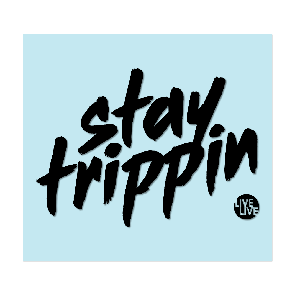 "#STAYTRIPPIN TAG - 6"" Black Decal - Hat Mount for GoPro"