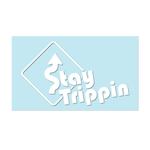 "#STAYTRIPPIN SIGN - 6"" White Decal - Hat Mount for GoPro"