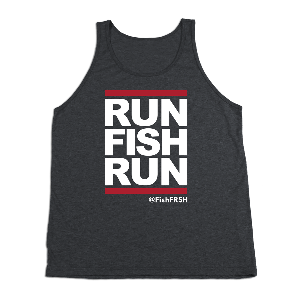 #RUNFISHRUN TriBlend Tank Top - White - Hat Mount for GoPro