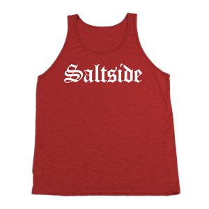 #SALTSIDE TriBlend Tank Top - White Print - Hat Mount for GoPro