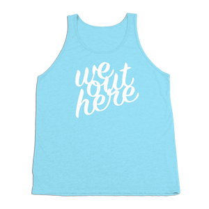 #WEOUTHERE TriBlend Tank Top - White Print - Hat Mount for GoPro