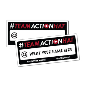 "#TEAMACTIONHAT - 7"" x 3"" Decal (FREE)"