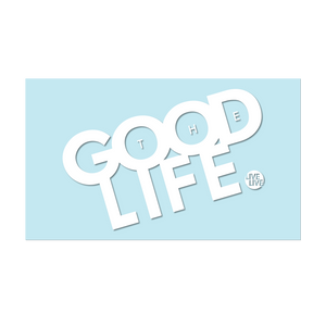 "#THEGOODLIFE - 6"" White Decal - Hat Mount for GoPro"