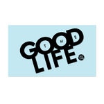 "#THEGOODLIFE - 6"" Black Decal - Hat Mount for GoPro"