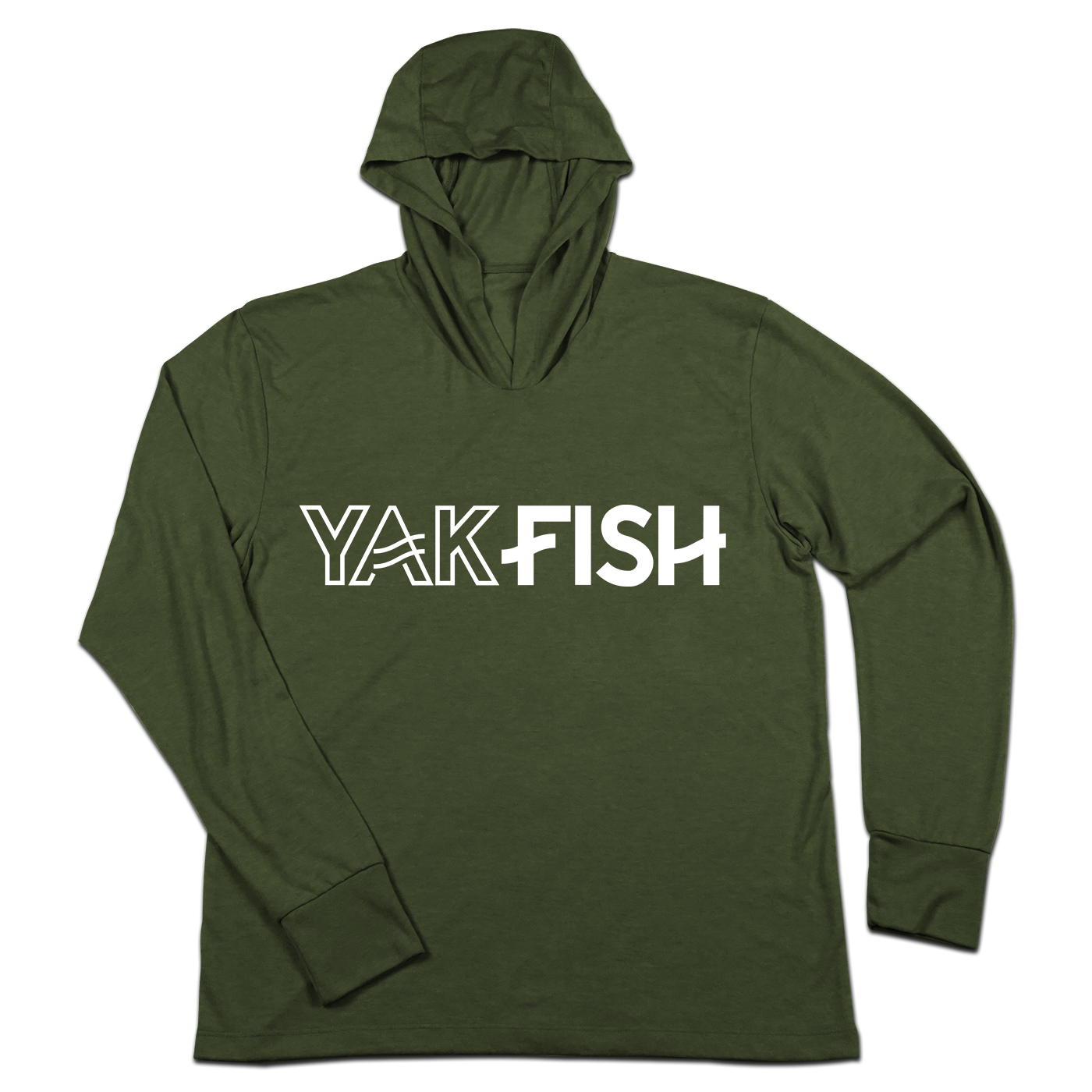 #YAKFISH TriBlend Hoodie Shirt - White - Hat Mount for GoPro