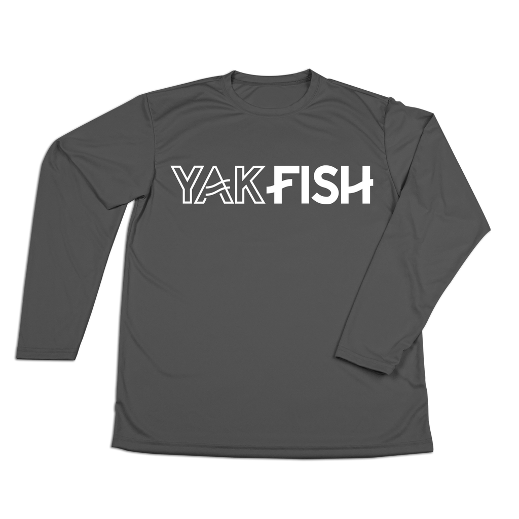 #YAKFISH Performance Long Sleeve Shirt - White - Hat Mount for GoPro