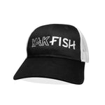 #YAKFISH Mesh Hat - Black/White Curved Bill - Hat Mount for GoPro