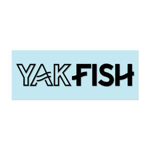 "#YAKFISH Logo - 11"" Black Decal - Hat Mount for GoPro"
