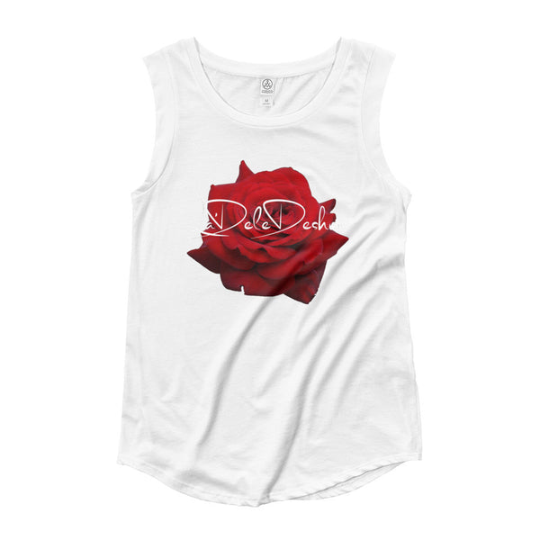 Signature Rose  Ladies' Cap Sleeve T-Shirt