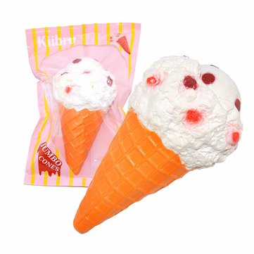 Jumbo White Ice Cream Cone Squishy