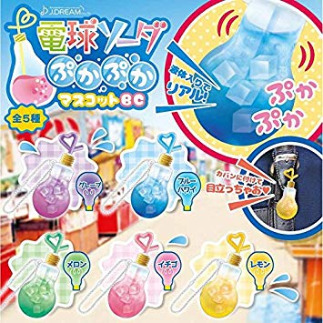 Light Bulb Soda Gachapon Water Charm (SHAKE SHAKE!)