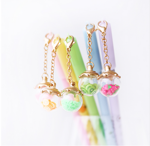 Kawaii Fruit Charm Pen