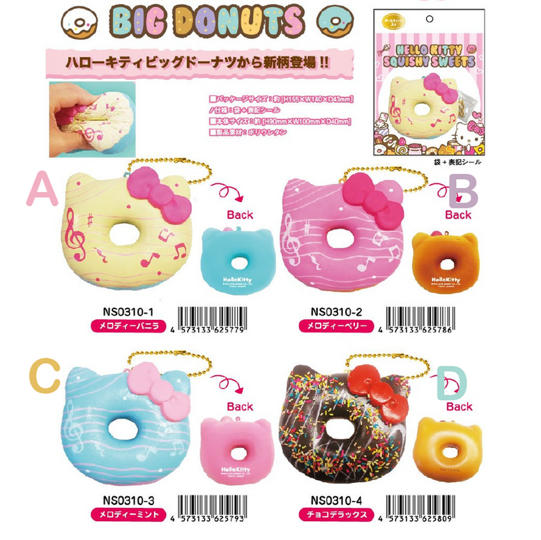 Hello Kitty Donut Squishy