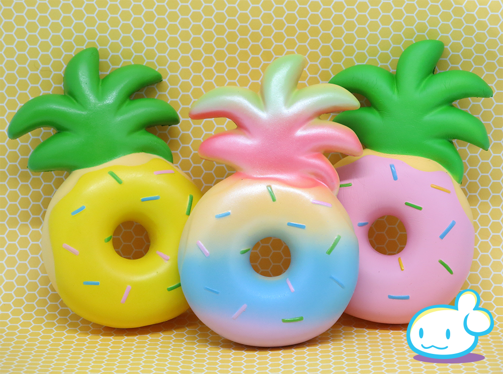 Jumbo Pineapple Donut Squishy Squishy Party