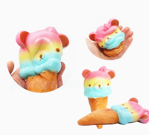 Jumbo Rainbow Rilakkuma Ice Cream Squishy