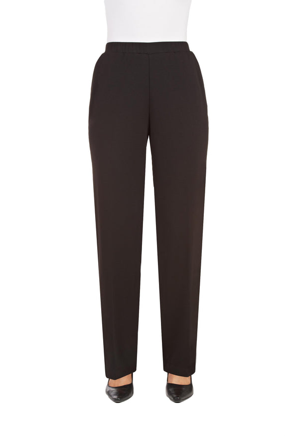 Pull-On Pants, Light Weight San Remo Knit in Black