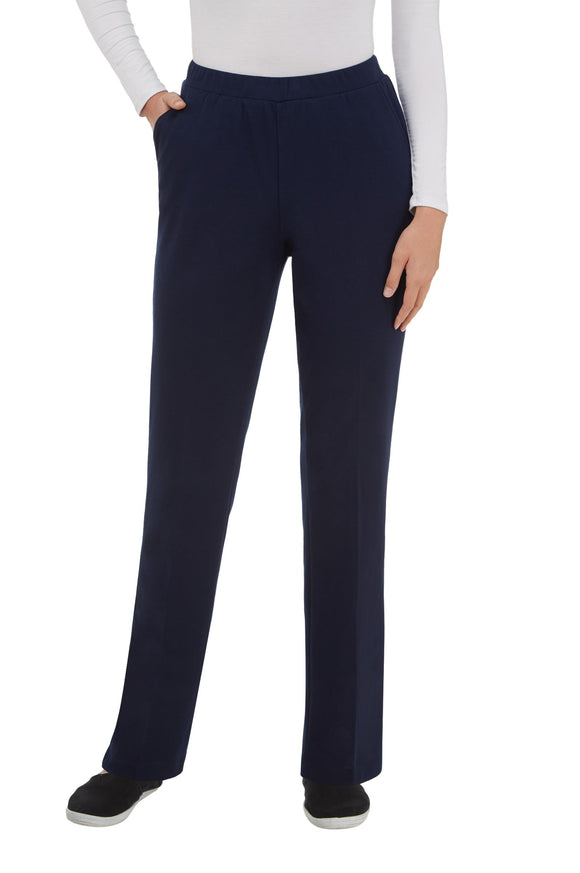 Pull-On Pants, Light Weight San Remo Knit in Navy