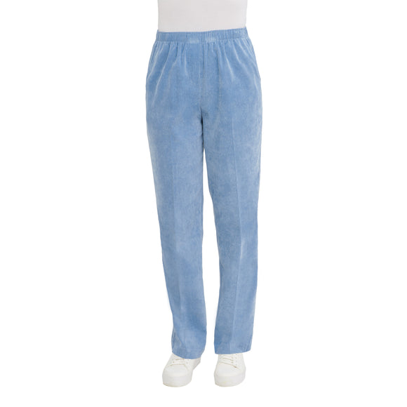 Pull-On Corvelle Straight Leg Pants in Mineral Blue