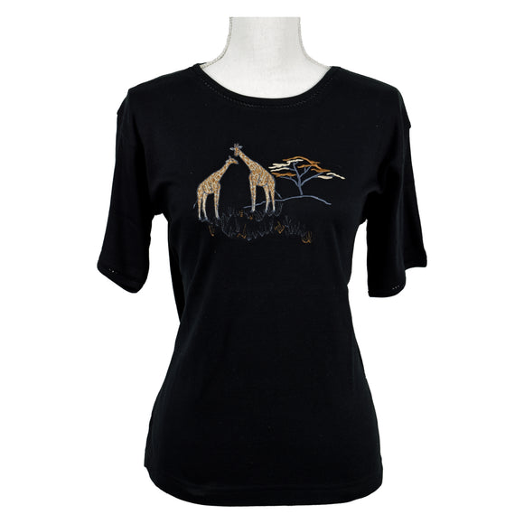 Shirt with Giraffe, Black
