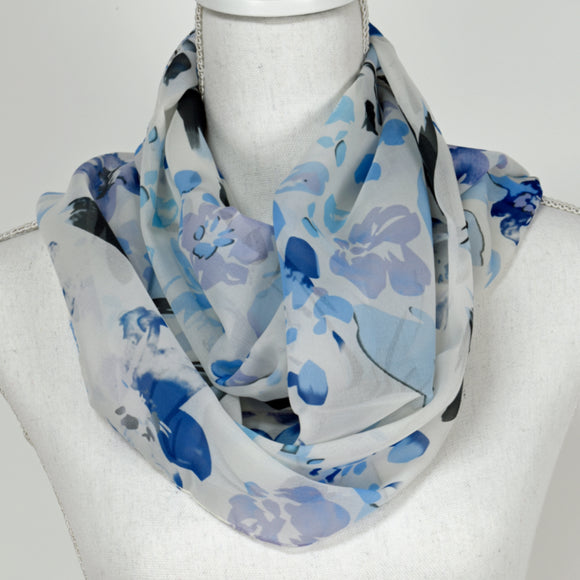 Tan Jay Scarf Light Grey - Light Blue