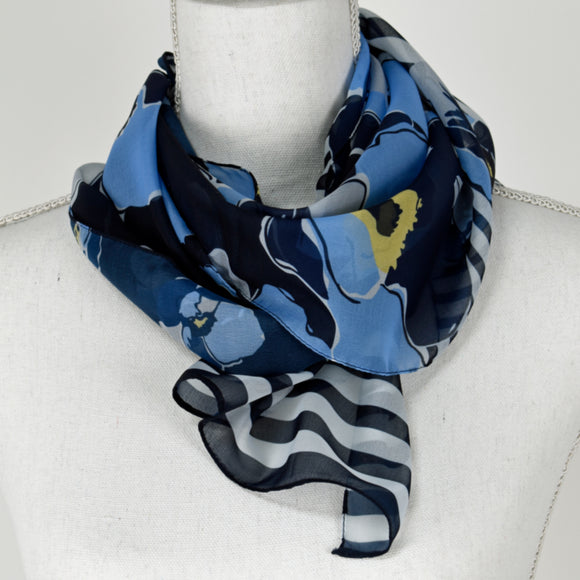 Tan Jay Scarf Blue - Yellow