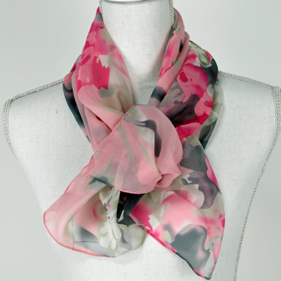 Tan Jay Scarf Pink and Grey