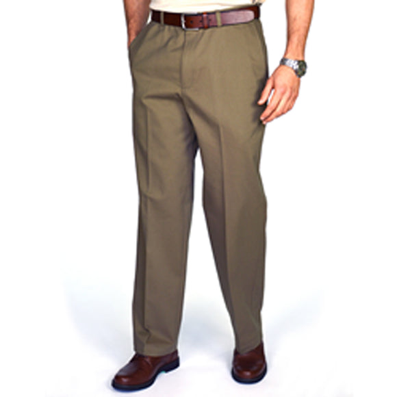 Men Casual Pants Poly / Cotton with Expandable waist