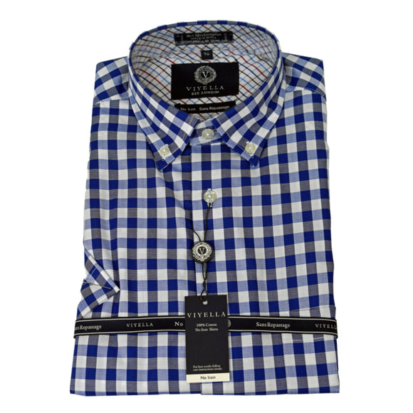 Dress Shirt - Short Sleeve - 100% Cotton - Non Iron