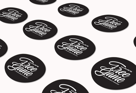 Free Game Stickers 12 pk (black)