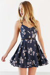Ellady Cross Back Floral Chiffon Dress