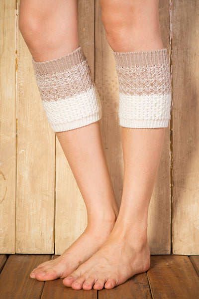 Ellady Beige Khaki Short Crochet Boot Cuffs Pattern